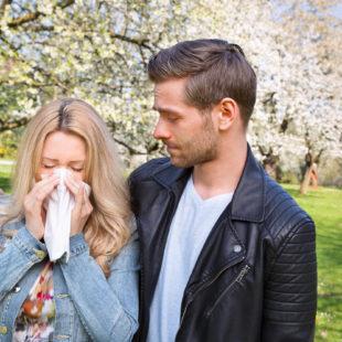 allergy, couple, springtime